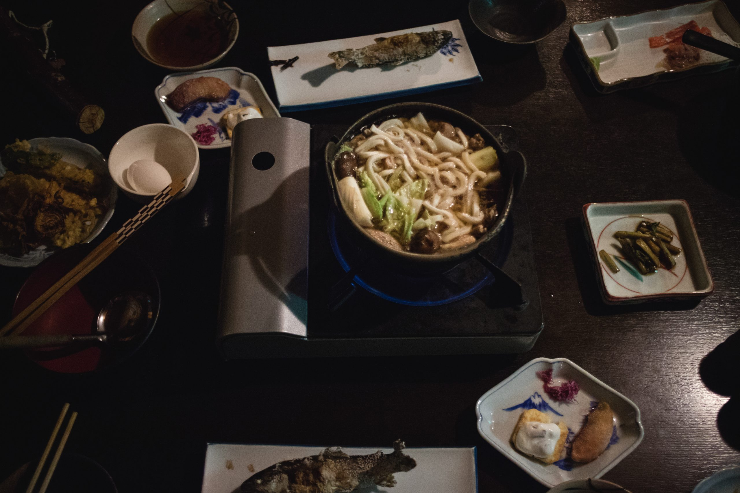 traditional onsen evening meal